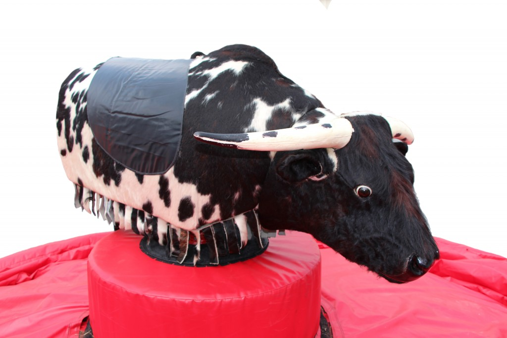 mechanical bull ride with spots